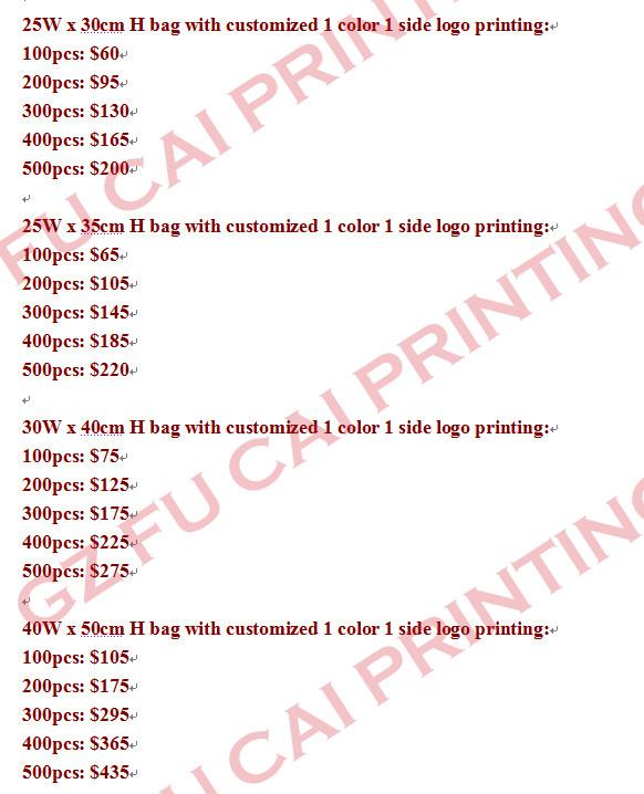 Акция 30 H * 25 см маленький размер черный не тканый упаковочный пакет с 1 цветной non woven prices