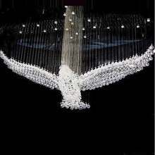 Free shipping eagle design modern crystal chandelier for hall lobby L100*W50*H70cm lusters de cristal indoor lighting(China (Mainland))