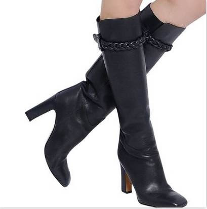 T Show Fashion Womens Long Boots Soft Leather Stiletto Heeled Motorcycle Boots Knee High Winter Spring Black Red Brown Boot<br><br>Aliexpress