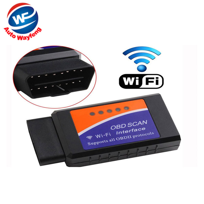 Factory Price Wireless ELM327 WiFi OBD 2 For Android 4.2 Car DVD WiFi ELM327 OBD II Scanner Free Shipping(China (Mainland))