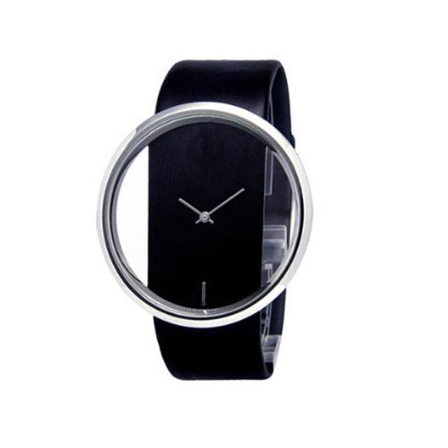 Zegarek damski ramka stylowy transparentny różne kolory