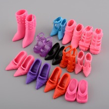 Mix 24pcs/12Pairs Shoes Boots For Decor Doll Toy Girls Dolls Accessories Play House Party Xmas Gift Random New Fashion