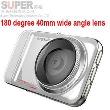 "New Full car dvr 180 degree 40mm lens HD 30 frames car dvr high sensitive collision 180 wide-angle 3.0"" screen car camcorder(China (Mainland))"