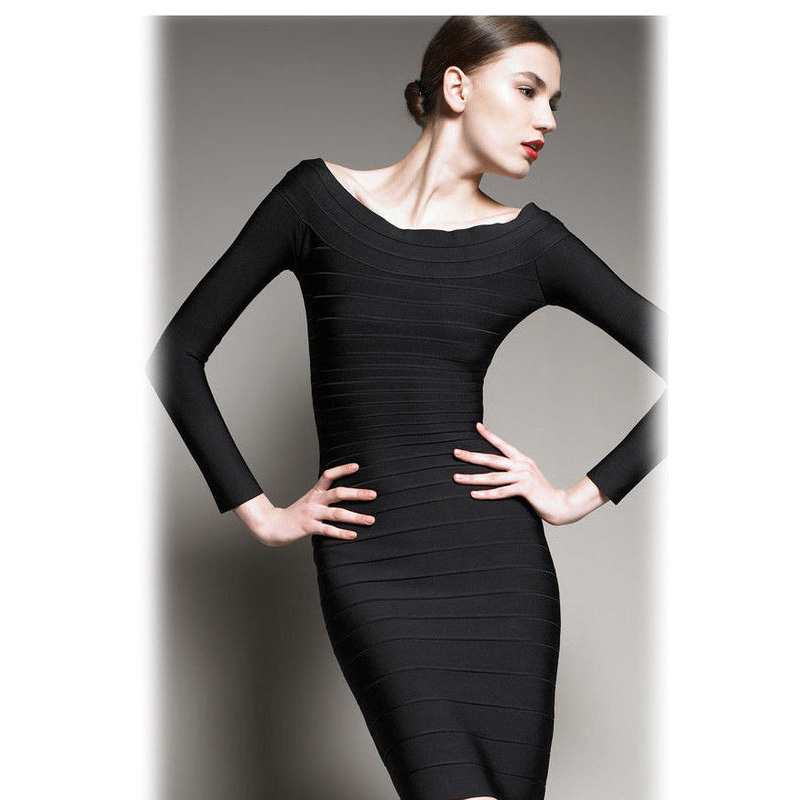 9270c08303 Off Shoulder Long Sleeve. 2015 women s high qualitybodycon dress Back Zipper