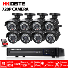 Buy 8CH CCTV System 1080P HDMI AHD 8CH CCTV DVR 8PCS 1.0 MP IR Security Camera 720P CCTV Camera Surveillance System Bullet Black set for $279.22 in AliExpress store