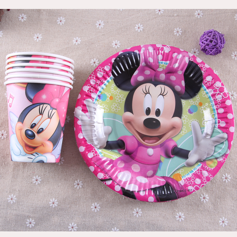 Buy 2015 new 40pcs set luxury kids for Baby minnie mouse party decoration