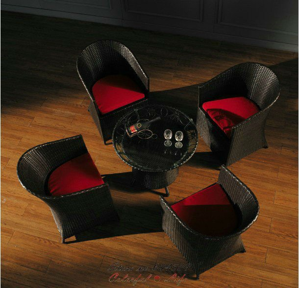 Good quality modern PE rattan outdoor furniture,YSF-N064,OEM