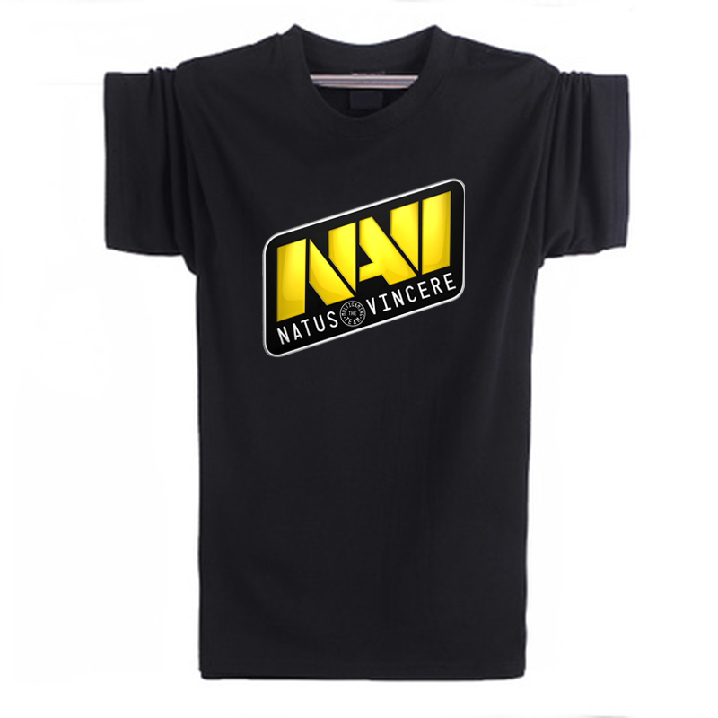 Game sport Style DOTA 2 team T shirt men NAVI printed Round collar short sleeve t-shirt 10 color fitness top tees plus size(China (Mainland))