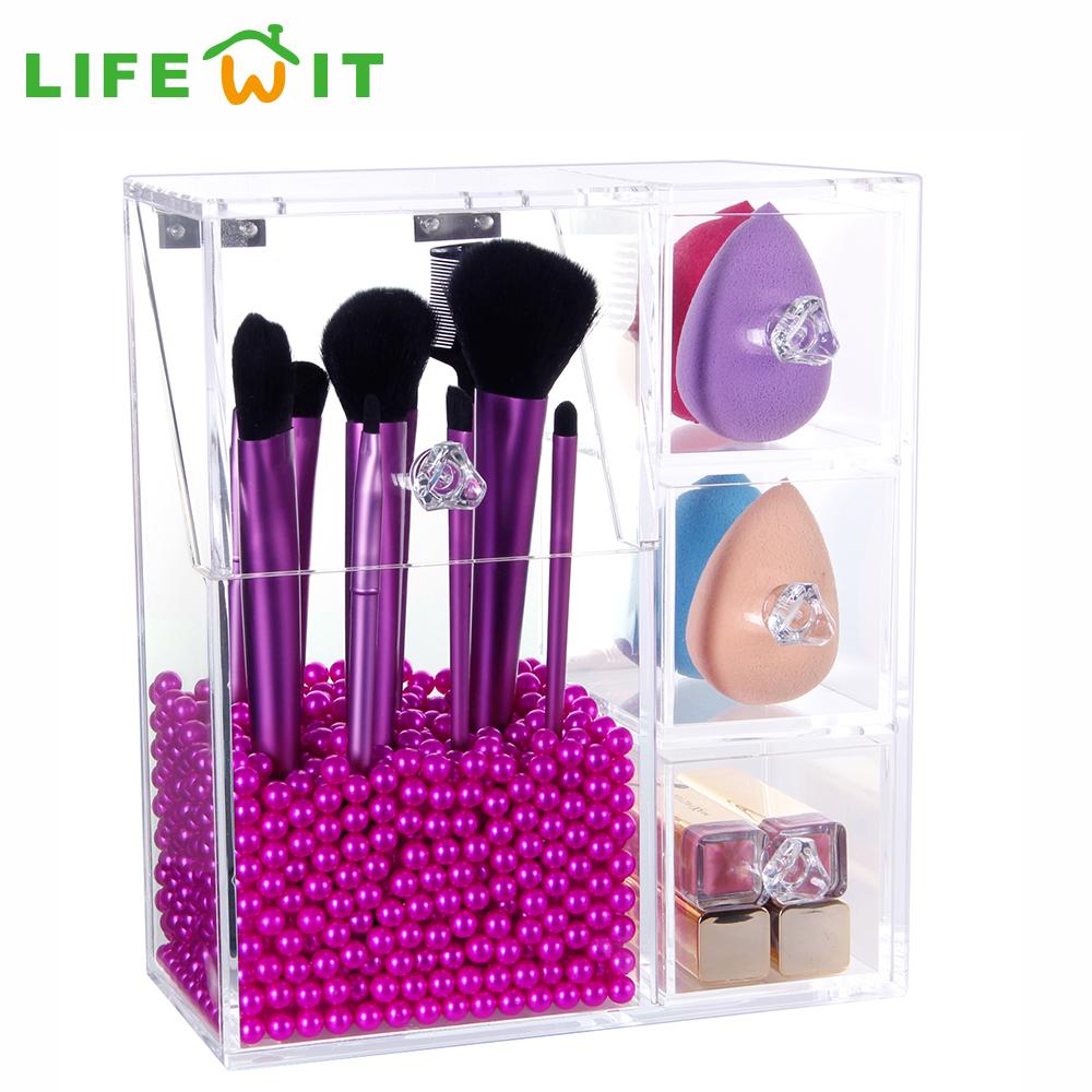 4 tiroir de rangement en plastique achetez des lots - Rangement acrylique maquillage ...