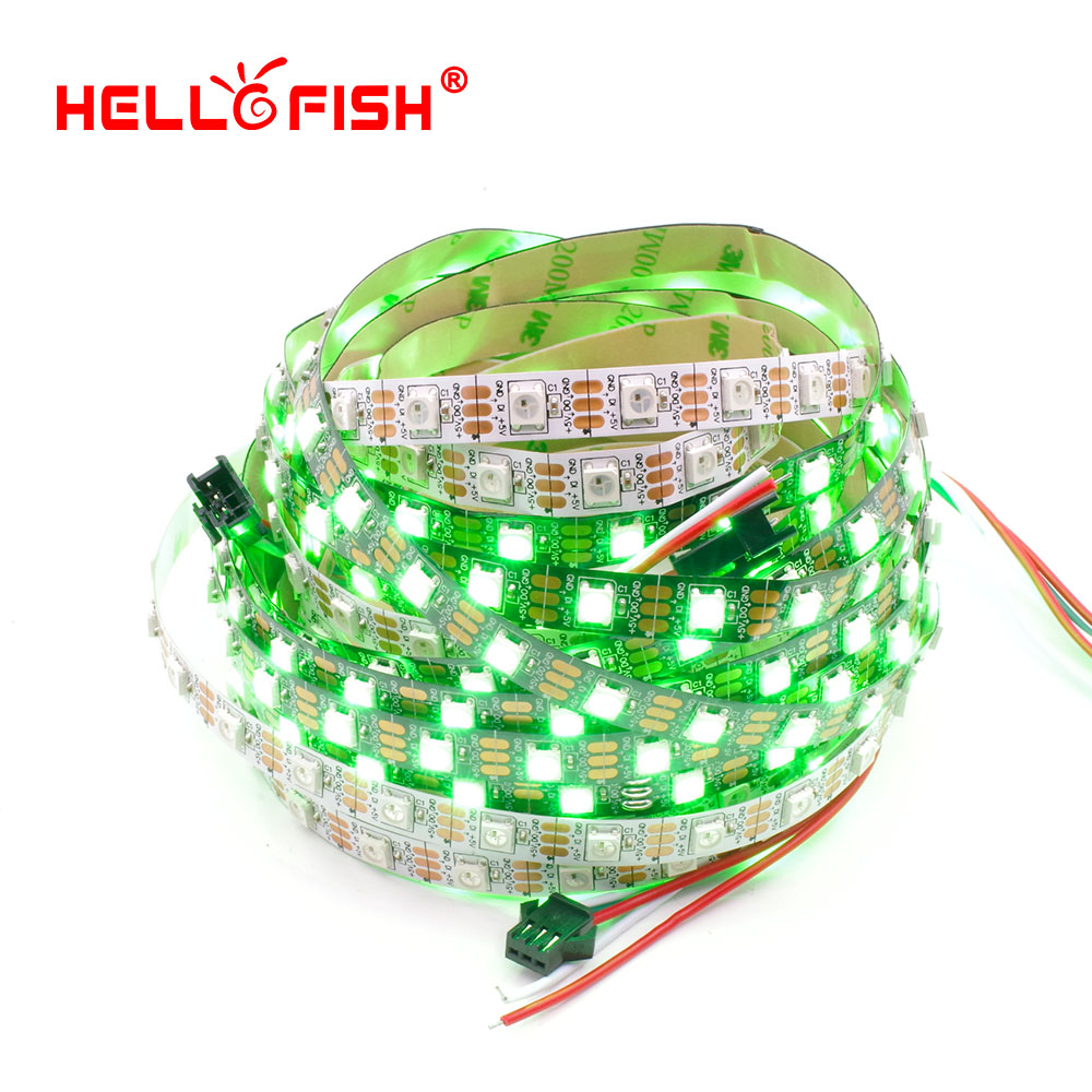 HELLO FISH 5M Built-in WS2812B White or black board LED strip,300 LED 300 pixel matrix LED strip, Display DIY led strip<br><br>Aliexpress