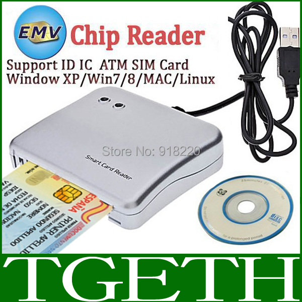 New Product For 2015 USB EMV Smart Card Reader Writer For ISO 7816 EMV Chip Tags Card Reader + 2pc 4442 Test cards + 1 Driver CD(China (Mainland))