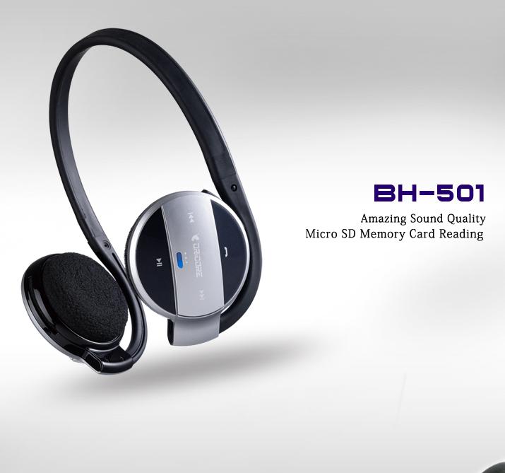 dricore bh 501 bluetooth headset headphone with internal. Black Bedroom Furniture Sets. Home Design Ideas