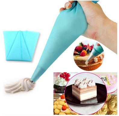 1 piece reusable silicone icing piping cream pastry bag dessert decorators cake cupcake decorating tools(China (Mainland))