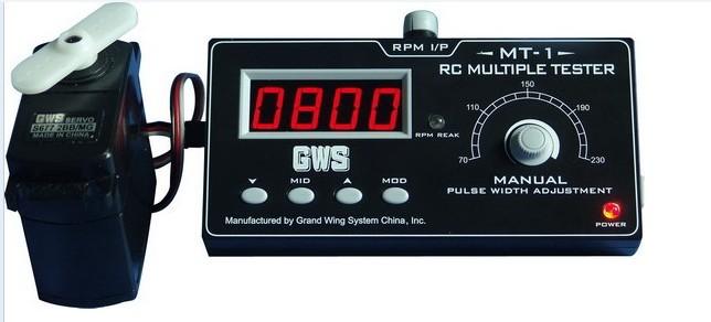 GWS wide battalion MT - 01 multi-function steering gear, servo motor tester MT - 1 equipment detector Quadcopter