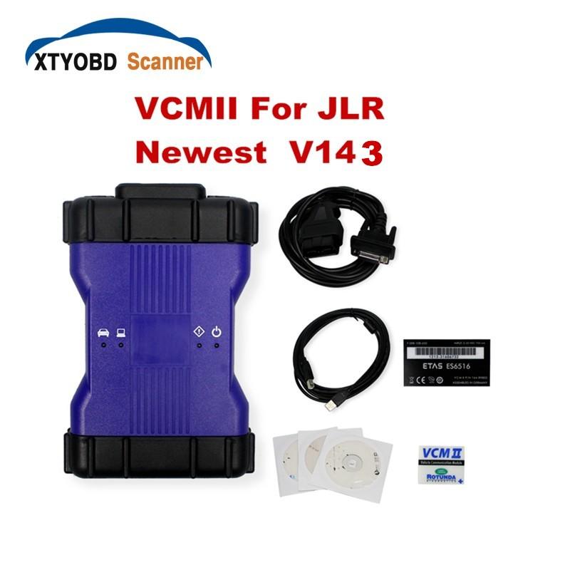 Top Professional VCM II For LandRover Diagnostics Tool Scanner Latest Version V143 VCM2 JLR for JLR VCM 2 IDS OBD2 Scanner VCMII(China (Mainland))