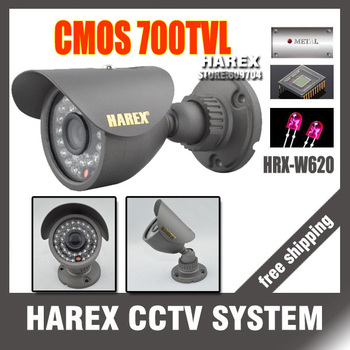 Best price 700TVL CMOS 960H 36pcs IR leds Day/night waterproof indoor / outdoor CCTV camera with bracket. Free Shipping