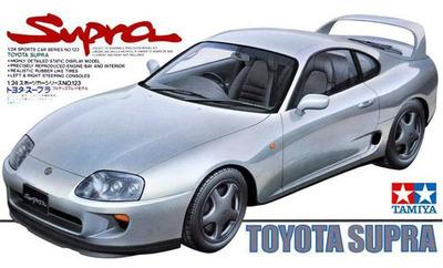 NEW Tamiya 24123 1/24 Toyota Supra Car Model Kit(China (Mainland))