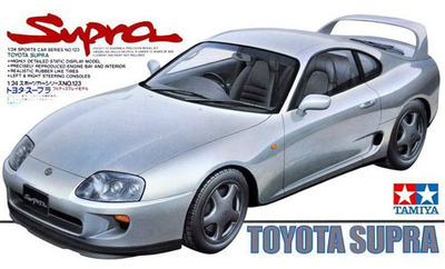Tamiya scale model 24123 1/24 scale car supra sports car assembly Model kits scale models car building plastic scale model kits(China (Mainland))