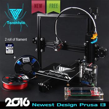 2016 Последним TEVO Тарантул I3 Экструзии Алюминия 3D комплект Принтера принтер 3d печать 2 Рулона Нити 8 ГБ ЖК SD card Как Подарок