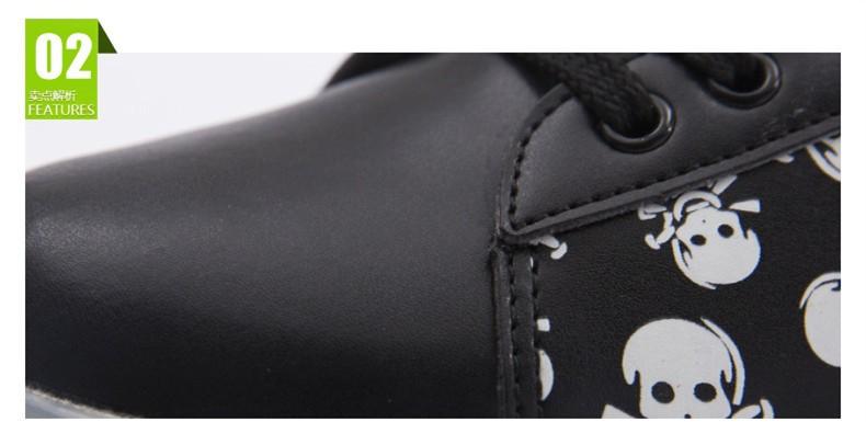 Luxury Brand Skull Printed Led Shoes Couple Luminous Usb Glow Shoe Men PU Light Up Schoenen Unisex Zapatillas De Luces