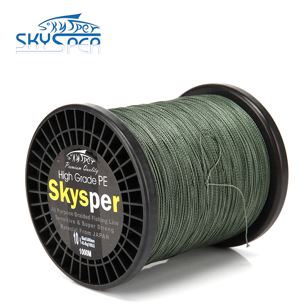 Skysper 1000m extreme strong braid fishing line pe for Strong fishing line