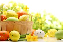 215cm*150cm easter photography backdrops Basket of eggs tulip backgrounds for photo studio Easter Sunday ZJ