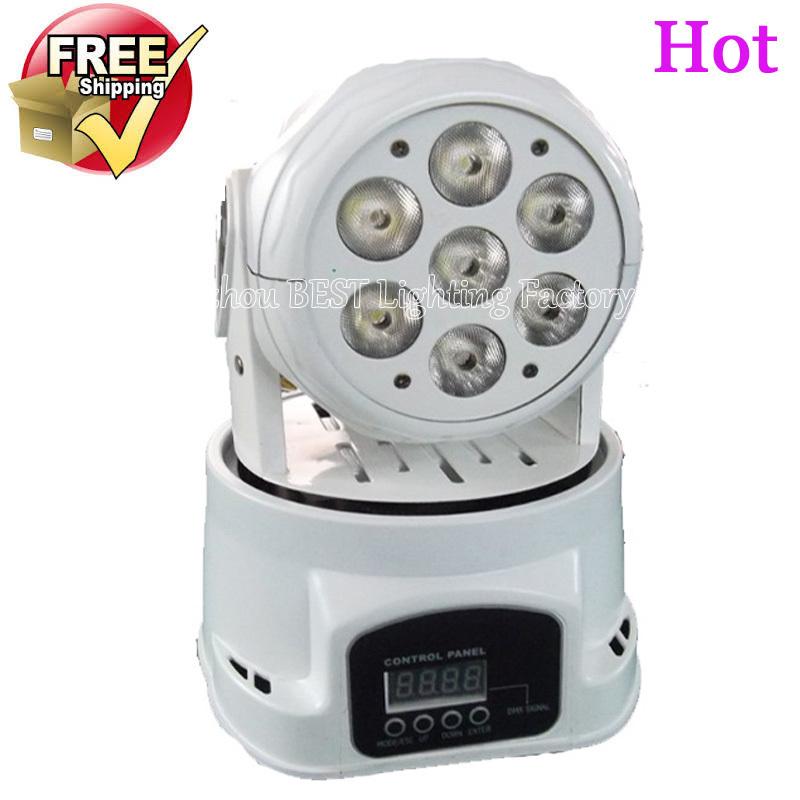White mobile head led wash 7x12w rgbw moving head light/dj equipment powerful mini moving light(China (Mainland))