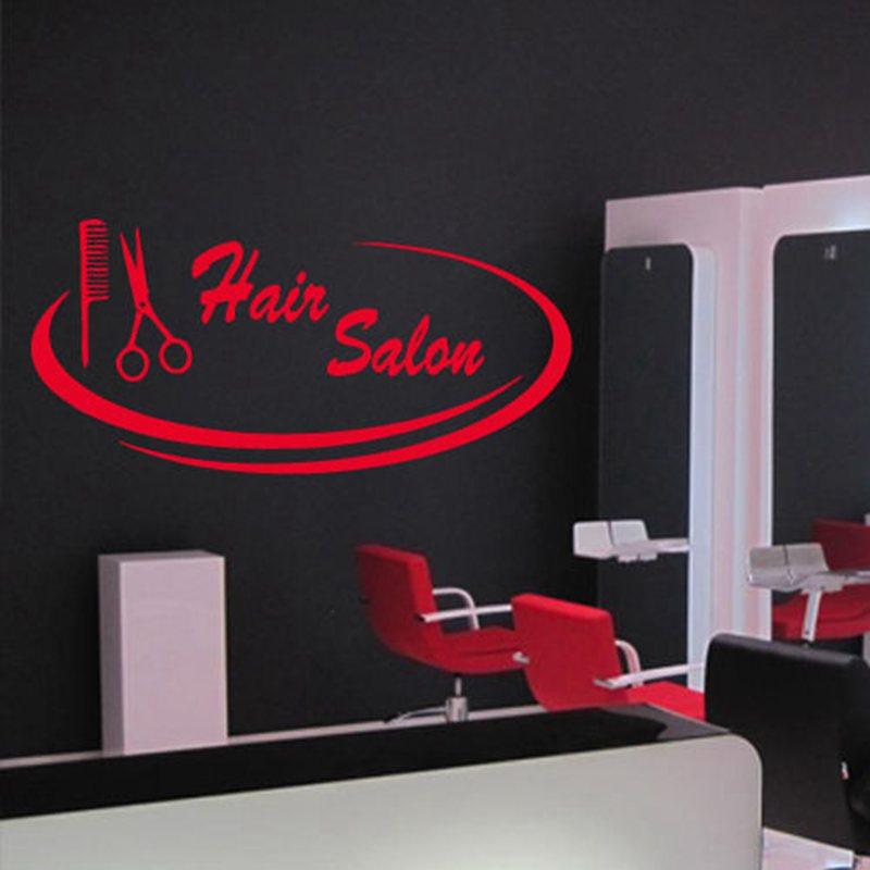 Scissor Hair Salon Sticker Hairdresser Decal Barber Shop