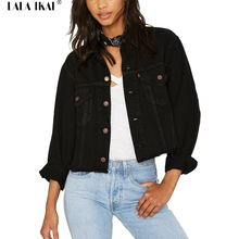 Ladies black denim jacket online shopping-the world largest ladies