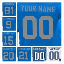 100% Stitched With Customized Men's #9 Matthew #15 Golden #20 Barry #21 Ameer #81 Calvin Elite Blue White Light Blue Jersey(China (Mainland))