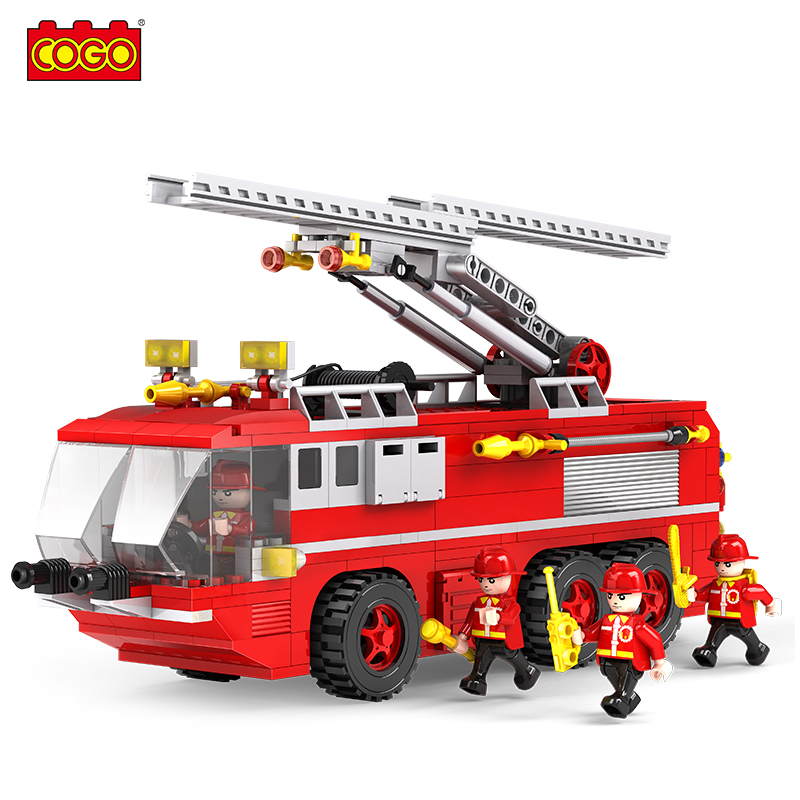 Ninjago Juguetes Plastic Fire Truck Model Building Kits Block Bricks Fashion Diy Action Figure Educational Toys For Children(China (Mainland))