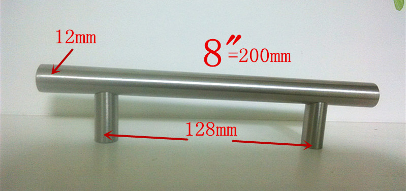 Diameter 12mm Length 200mm 8 Furniture Hardware Kitchen Cabinet Handle Bar Pull Handle