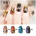 1pcs Hot Tiger Snake Skin Pattern Water Decals Transfer Stickers on Nails Decoration Manicure Tools