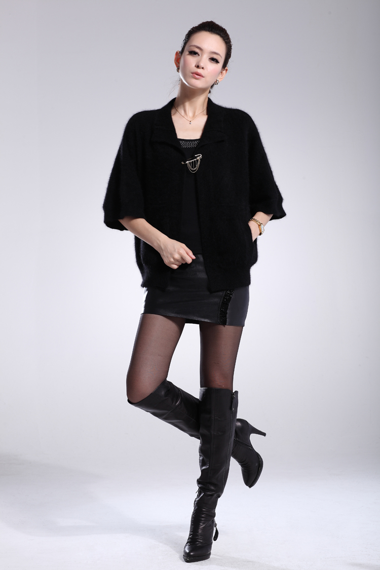 Fashion marten velvet cape all-match sweater plus size clothing cardigan batwing sleeve - caie chen's store