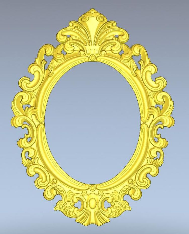 3d model oval frame relief for cnc machine in STL file format simple border --2(China (Mainland))