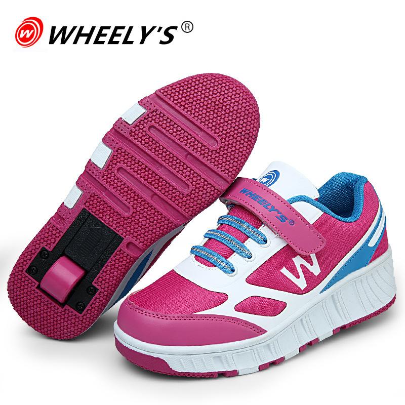 Hot 2015 Children Heelys Kids Fashion Sneakers one Wheels Boys Girls Skate Roller Shoes Ultra-Light Men Women 32-42