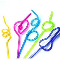 5pcs drinking straw Kitchen Dining tools Barware cola milk twist straw sucker juice straw kids children use
