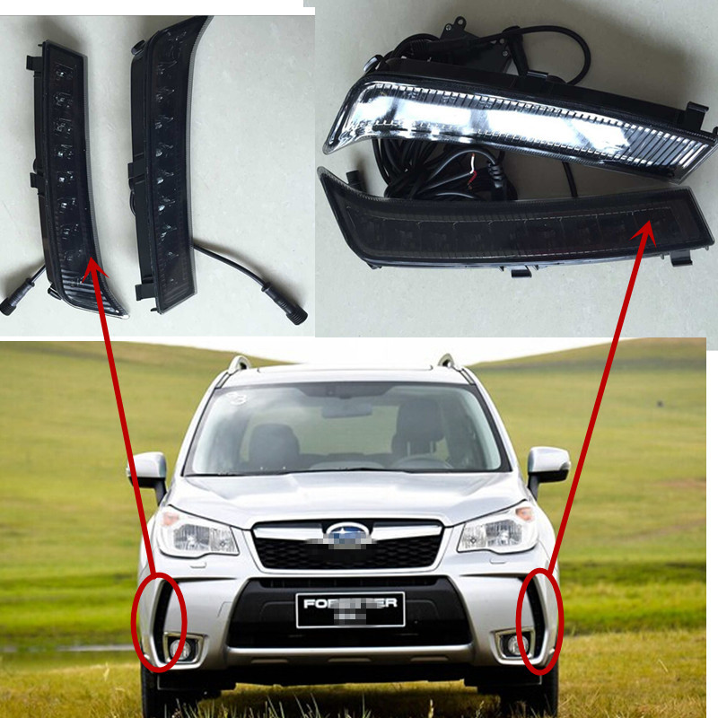 2x LED DRL Daytime Running Light Lamp SUBA-RU Forester 13-14 Smoke Screen Ver - ZHUOLINXING ELECTRONIC CO.,LIMITED store