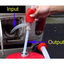 Big Discount !!! Portable Manual Car Siphon Hose Gas Oil Water Liquid Transfer Hand Pump Sucker Free Shipping! I1Wgh(China (Mainland))