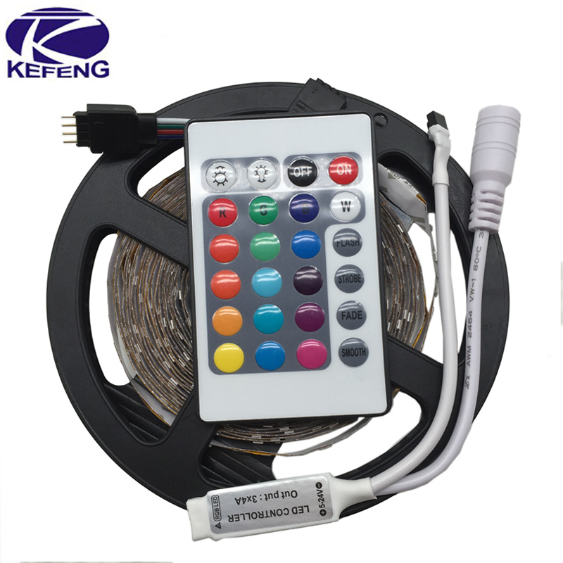 5m 3528 LED strip light RGB tape diode 300leds non waterproof+RGB remote controller RGB/White/Warm white/Bule/Red/Green/Yellow(China (Mainland))