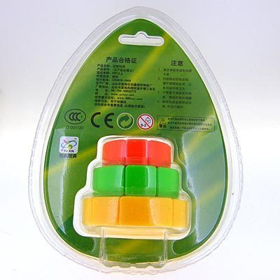 Yu xin Multicolour 3x3 small cake magic cube  free air mail