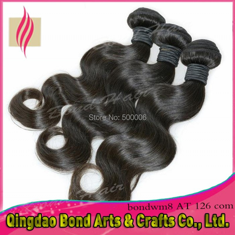 3/4pcs lot Brazilian virgin hair weft natural color 100% human hair weaves queen hair products brazilian body wave free shipping<br>