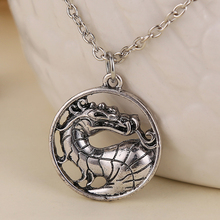 Mortal Kombat necklace dragon vintage pendant movie jewelry for men and women wholesale(China (Mainland))