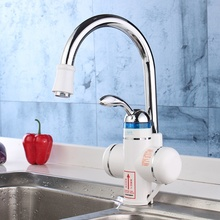 Buy 1 Set Electric Water Heater LED Digital Bathroom Shower Taps Faucets Sinks AU Plug 220V Kitchen Basin Faucet Tap Mixer for $34.60 in AliExpress store
