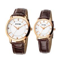 Brand EYKI Couple Lover's Watches Men Women Dress Watches PU Leather Strap Quartz Gift Watch(China (Mainland))