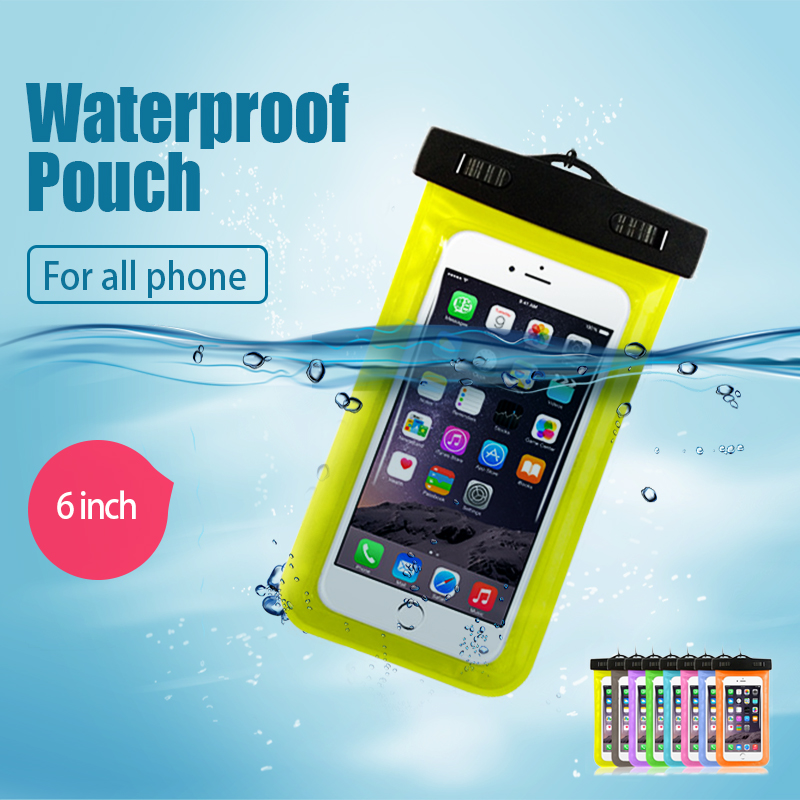New Clear Waterproof Pouch Dry Case Cover For 5.5 inch Phone Camera Mobile phone Waterproof Bags for IPHONE 4 4S 5 5S 6 6S PLUS(China (Mainland))