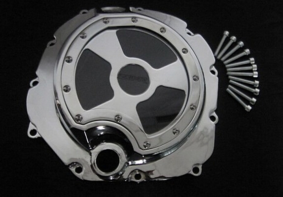 Stator Engine Cover Right Side Fit For Kawasaki ZX-14R/ZZR 1400 (R) Chrome With Glass 2006-2014 Billet Aluminum(China (Mainland))