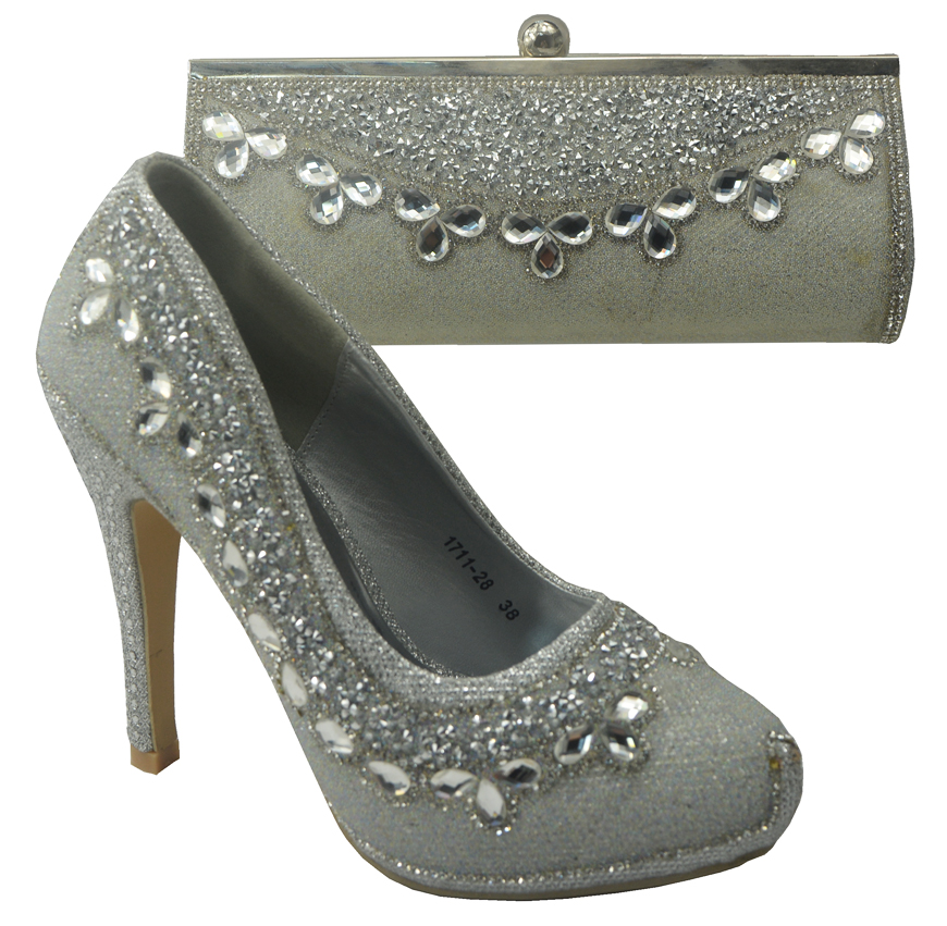 Здесь можно купить  Silver 708-2 Italian Shoes With Matching Bags To Matching,2016 African Shoes And Matching Bag Sets For Wedding.  Обувь