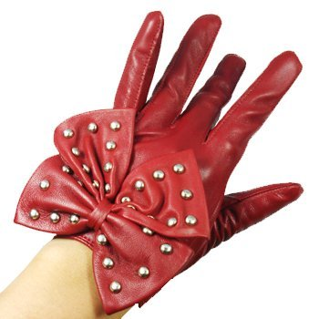 Retail Leather Girls Gloves for Evening Dress Girls Cosplay Gloves Guantes for Women Luva Accessories