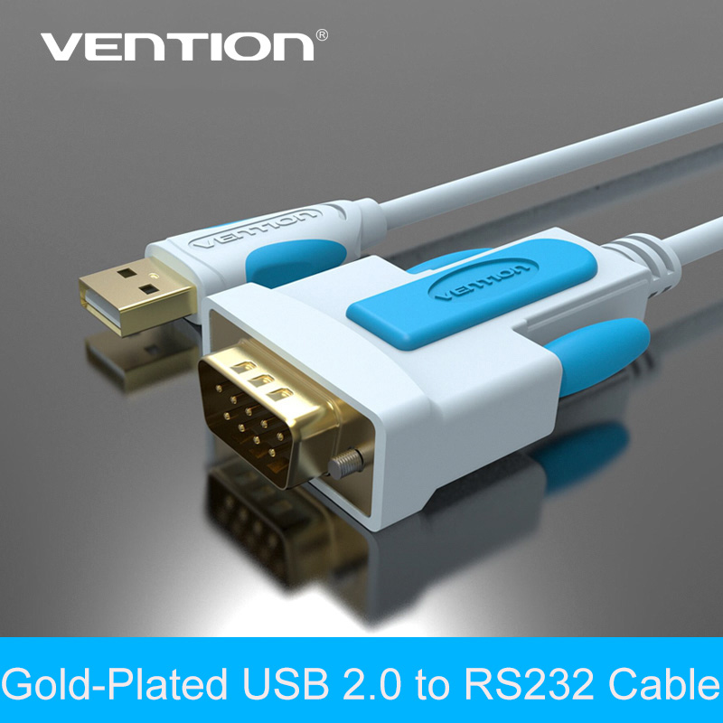 Vention New USB to RS232 Serial cable 1.8 m 9Pin DB9 Cable Adapter Support XP/VISTA/WIN7/WIN8/MAC(China (Mainland))